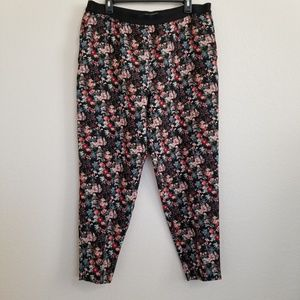 Zara Woman Floral Print Pants XL